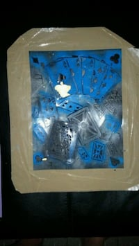 Playing Cards Airbrush Stencil