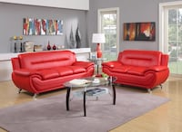 red leather sofa set with coffee table Norfolk, 23502