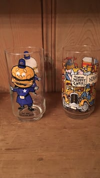McDonald's collectible glasses 1970s 1980s Garwood, 07027