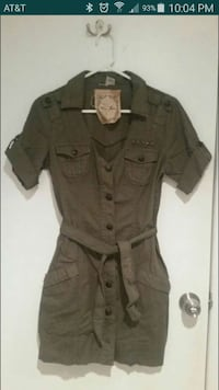 Guess woman's cargo military dress Herndon, 20170
