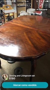 oval brown wooden dining table Atlanta, 30340