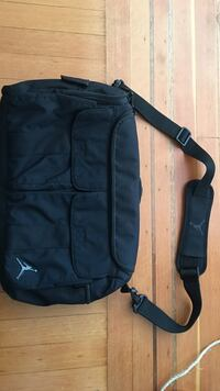 Jordan courier bag. Has five external pockets and internal padded laptop storage. Used but clean and all zippers and pockets work fine.  Vancouver, V5K