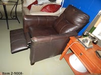 brown leather recliner sofa chair Hammond