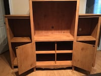 brown wooden TV hutch with cabinet Edmonton, T6T 1Y2
