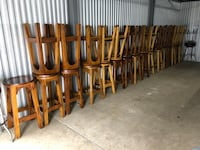 Barstools padded seats and some are wooden seats 30 inches $35 ea La Grange