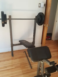 black and gray bench press Montreal, H2A 2W8