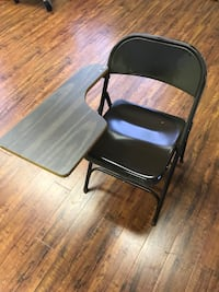 18 folding  class room table chairs - like new.