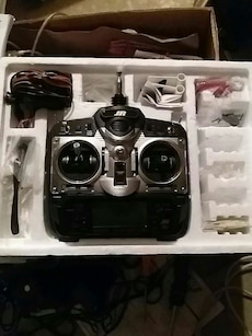 black and gray R/C controller