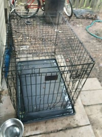 black metal folding dog crate Capitol Heights, 20743