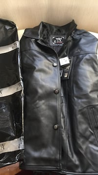 black leather button-up jacket Toronto, M4A 1W3