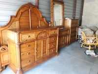 brown wooden dresser with mirror 850 mi