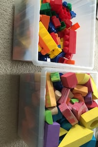 Toddler-friendly soft blocks and LEGO