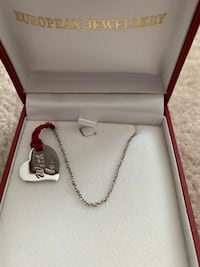 European Jewellery Sterling Silver Heart Pendant and chain Mississauga, L5B