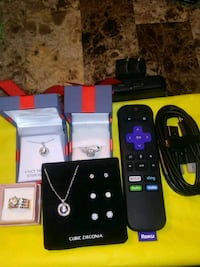 Package deal two rings two necklaces and a Roku Mansfield, 44905