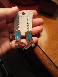Real Turquoise, Sterling Silver Earrings  Minneapolis, 55414