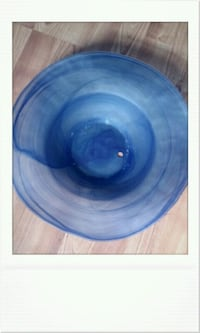round blue glass component Eureka, 95503
