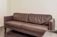 Sofa Brown colour Leather one pice Ajax, L1Z