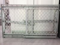 gray metal framed white metal bed frame Mississauga, L5W 1Z7