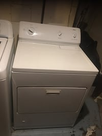 White front-load clothes gas dryer barley used Hyattsville, 20785