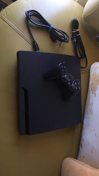 black Sony PS3 Slim with controller Pickering, L1V 6S1