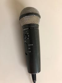 black Emerson corded microphone