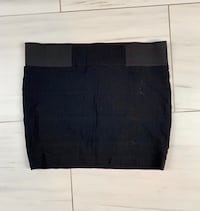 Black mini skirt elastic waist Sz L new without tags 552 km