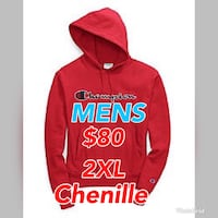 Authentic Brand New with Tags Champion Reverse Weave Chenille Red Pullover Hoodie  Toronto, M6E 2M1