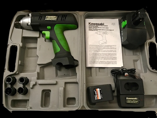 Used Kawasaki 19 2v Cordless Battery Operated Impact Wrench For In Las Vegas