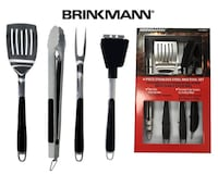 New 4 - Piece Stainless Steel BBQ Tool Set