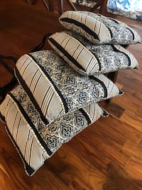 Seat Cushions Dinning Pier One,Colors dark blue and white Temecula, 92592
