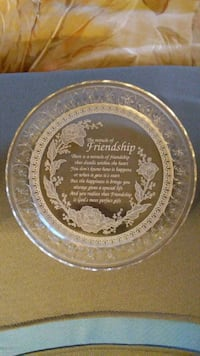 Lead Crystal Friendship Collector's Plate Henderson, 89002