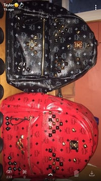 red and black leather MCM backpack Ottawa, K2C 3G1