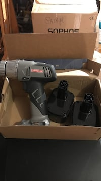 Craftsman drill. 2 batteries no charger. 12 volts