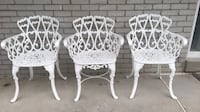 Cast iron patio garden chairs set of 3 Oshawa, L1J 6B4