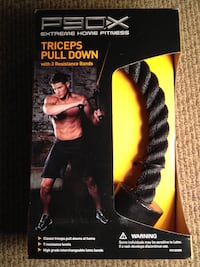 P90x triceps pull down with 3 resistance bands Vancouver, 98684