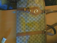 brown and black Gucci monogram tote bag New Westminster, V3M 5Y6