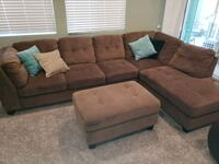 Microfiber Couch Sectional with ottoman  Visalia