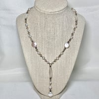 Stephen Dweck Sterling Silver Baroque Pearl Necklace with Carved Mother of Pearl Pendant Ashburn, 20147
