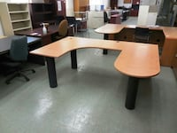brown sectional office desk Saint-Nicolas, G7A 2N2