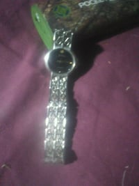silver-colored analog watch with link bracelet Merced, 95341
