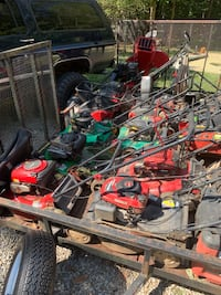 A bunch of lawnmowers for sale. Need gone ASAP
