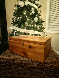 Hand - crafted locking wooden box