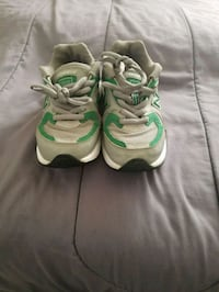 pair of green-and-white Nike running shoes College Park, 20740