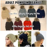 Adult and Kids pompom beanies with linings Edmonton, T6W 2C3