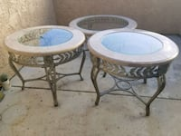 Glass marble metal end tables & coffee table Camarillo, 93012