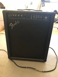 black and gray Fender guitar amplifier Riverside, 92503