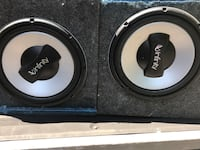 Two black and gray mtx audio subwoofers North Augusta, 29860