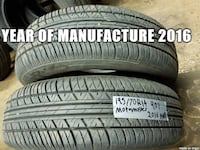 selling A set of set of two ___ MOTOMASTER __ 195/70R14 all season tires that have __ 90% tread  I can install these tires  Port Coquitlam