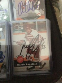 Detroit LaPointe, Martin, Autographed Cards Mississauga