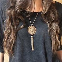 Gold Pendant and Tassel Necklace Paso Robles, 93446